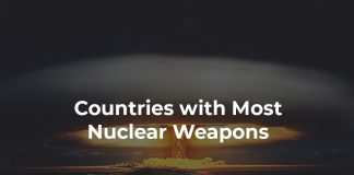 Countries with most nuclear weapons