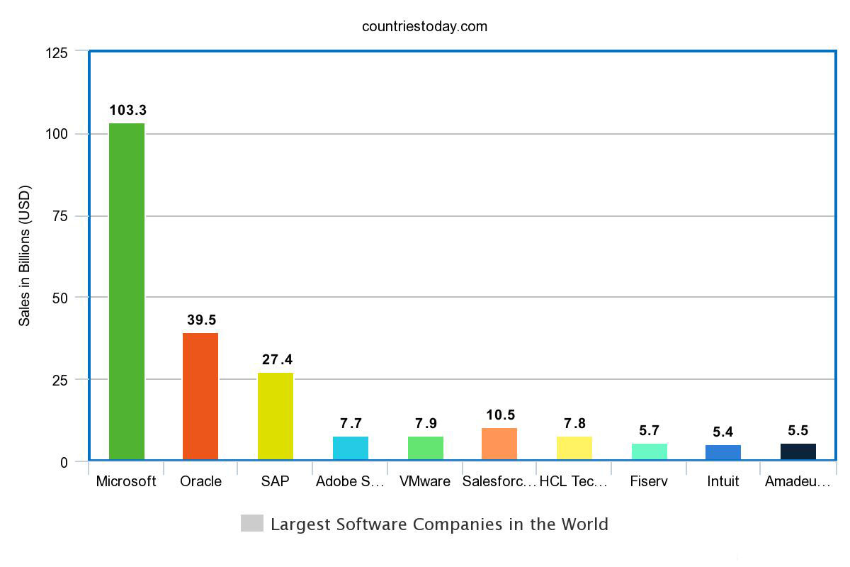 Largest Software Companies in the World