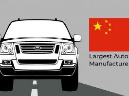 China: largest auto manufacturer