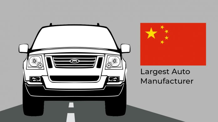 China: largest auto manufacturer