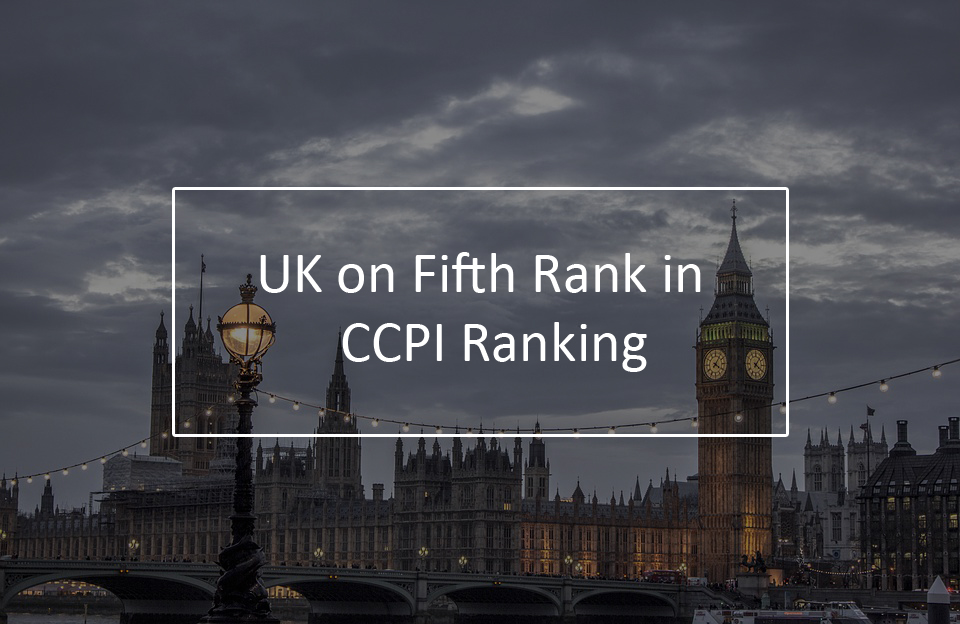 UK with on fifth CCPI Ranking