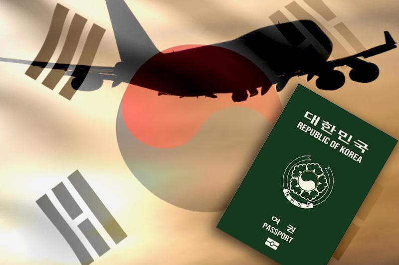 Passport Strength of Singapore, South Korea